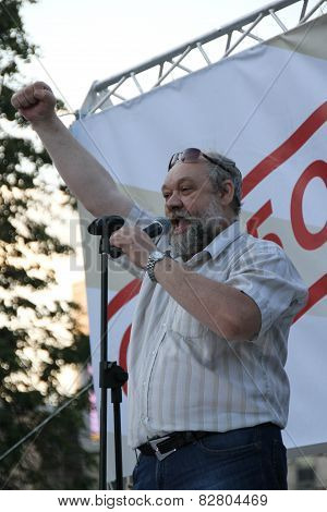 Ilya Konstantinov The Father Of The Political Prisoner Daniil Konstantinov Speaks At Oppositional Me