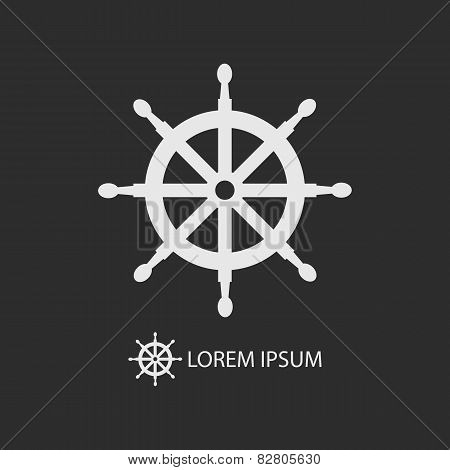 White Helm As Logo On Dark Grey Background