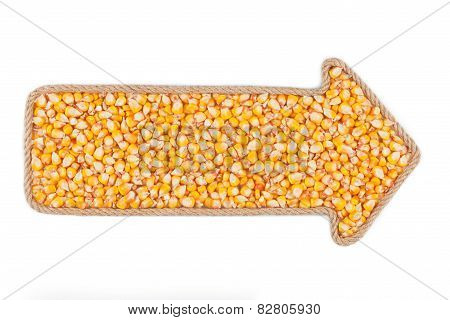 Arrow Made Of Rope With Corn