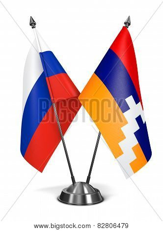 Russia and  Nagorno-Karabakh  on Miniature Flags.
