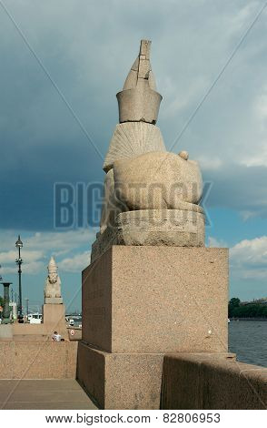 Sphinxes At The Universitetskaya Embankment, Saint Petersburg