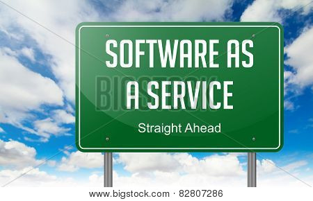Software as a Service on Highway Signpost.