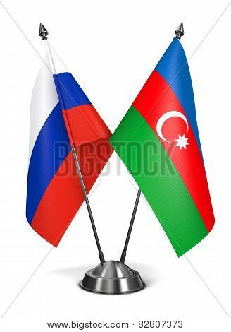 Russia and Azerbaijan - Miniature Flags.