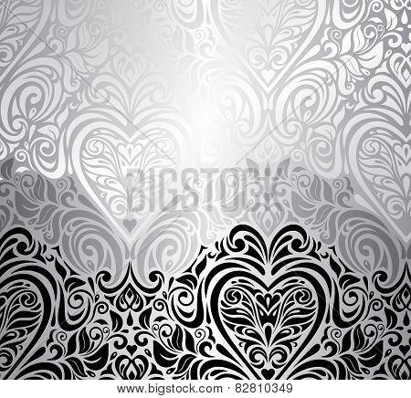 Classic black & white vintage invitation background