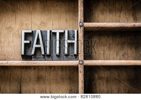 Faith Letterpress Type In Drawer