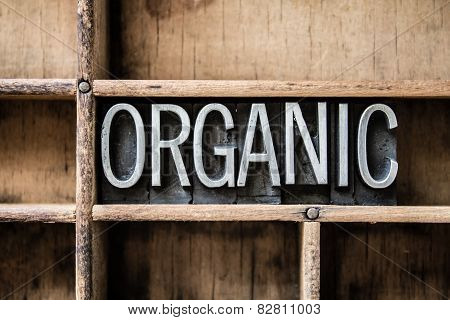 Organic Letterpress Type In Drawer