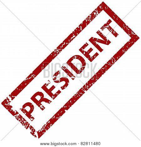President rubber stamp
