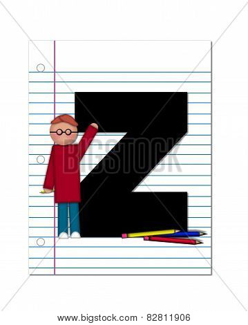Alphabet Start Of School Two Z