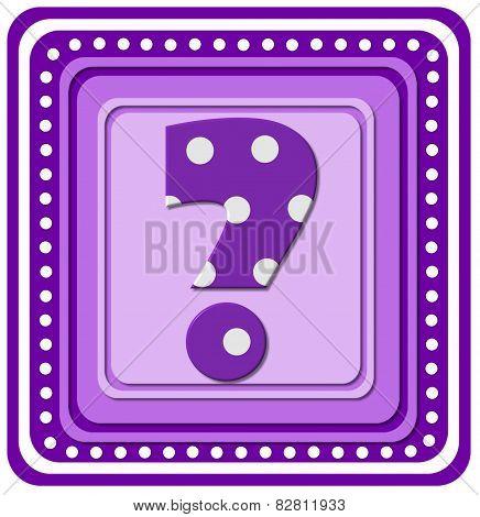 Alphabet Purple Square Question