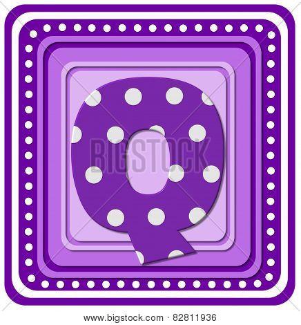 Alphabet Purple Square Q