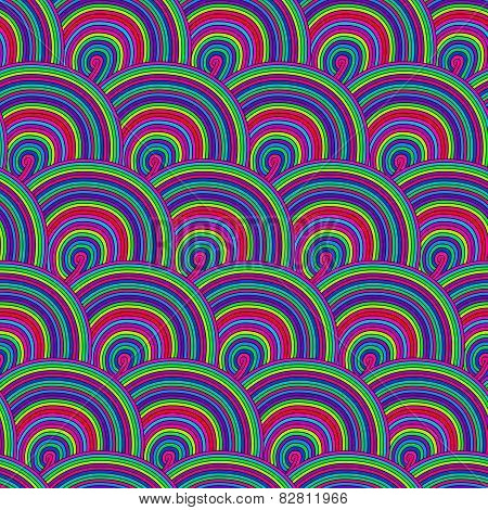 Seamless pattern with waves. Seamless wave hand-drawn patt