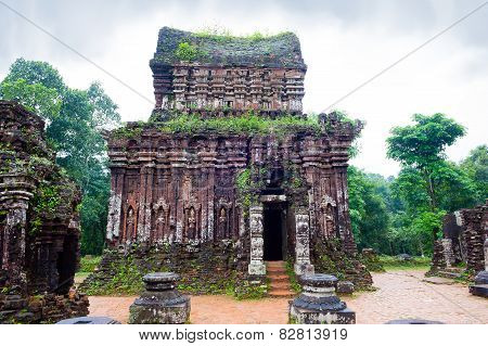 Myson Temples In Cloudy Weather Vietnam