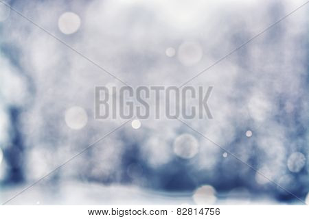 Defocused Falling Snow Background - Bokeh