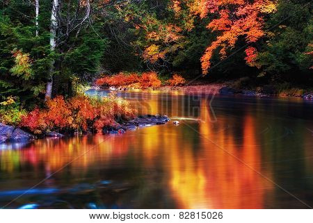 Colorful Stream Reflection