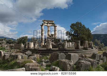 Temple of Athena Pronaia in Delphi