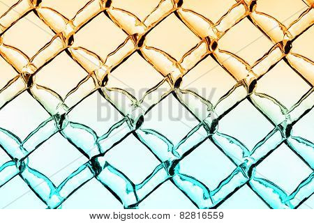 Warm And Cool Ice Diamond Pattern Background