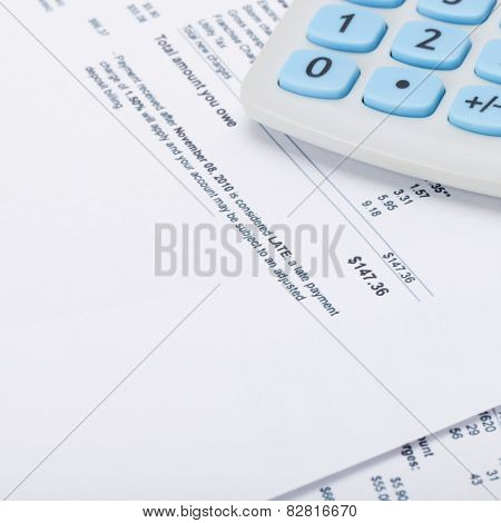 Receipt Next To Calculator