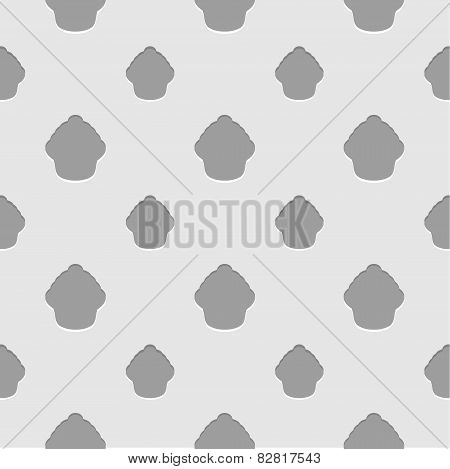 Abstract gray and white seamless cupcake background