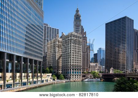 Wrigley Building In Chicago.