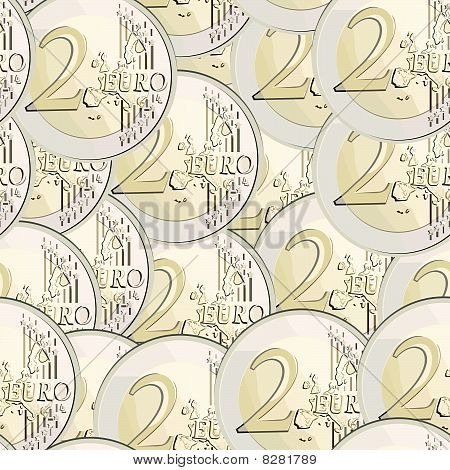 seamless vector currency 2 euro coin