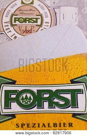 Beermats From Forst Beer.