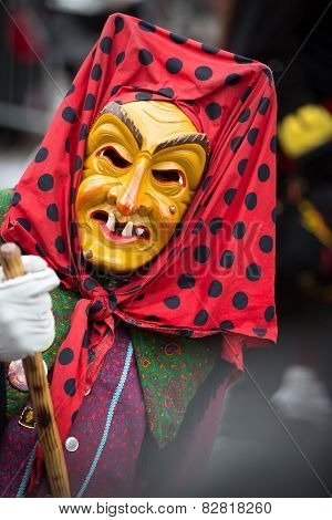 Carnival procession in Durlach (Baden) with traditional masks