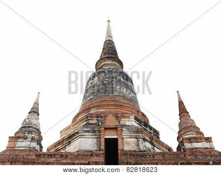 Pagoda At Wat Yai Chaimongkol, Thailand