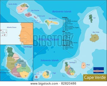 Administrative division of the Republic of Cabo Verde