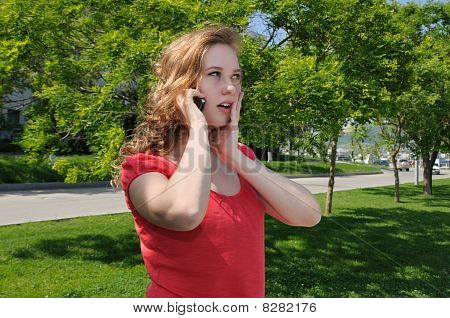 Blonde, Talking On Phone