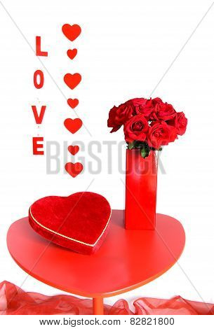 Red Roses And Chocolates For Love