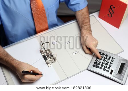 Calculating Office Worker