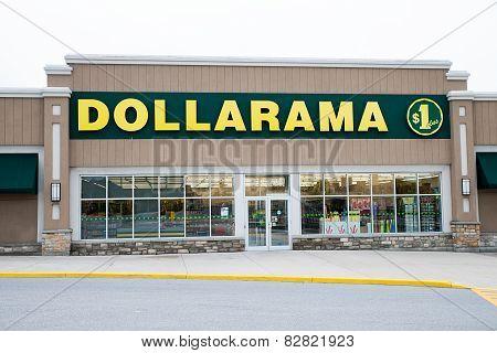 Gravenhurst, Canada - June 12,  2014 - A Dollarama Store Front I