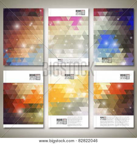 Abstract colored backgrounds, triangle design vector. Brochure, flyer or report for business, templa