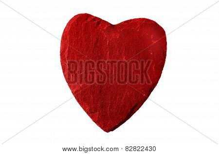 Red Heart With Slate Structure