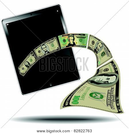 Money Breaks out of a Tablet