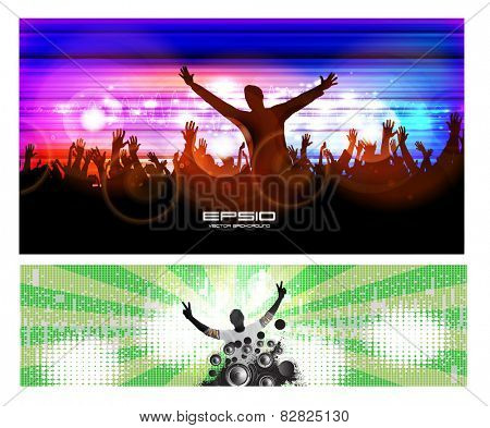 Night party background. Vector