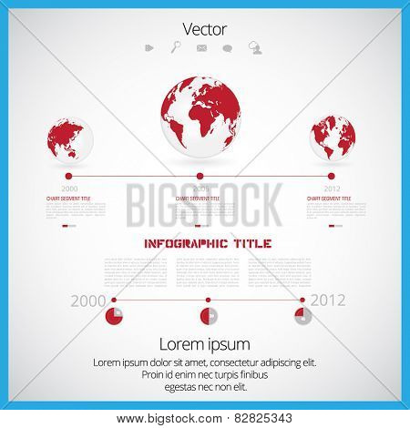 Vector world map with infographic elements
