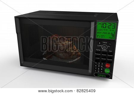 Microwave Oven  With  Chicken 2