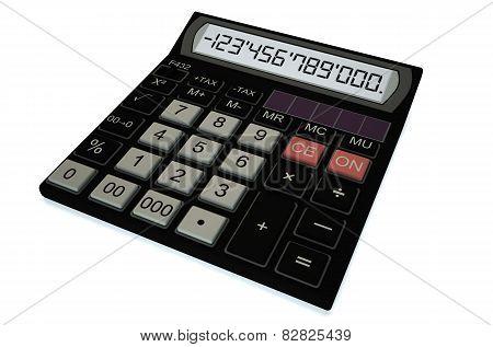 Electronic Black Calculator