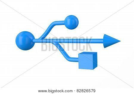 Blue Usb Sign