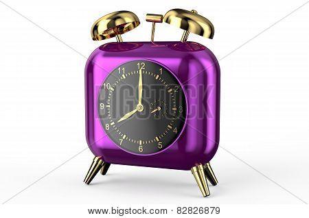 Square Purple Alarm Clock