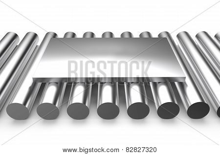 Rolled Metal, Sheet On Rounds