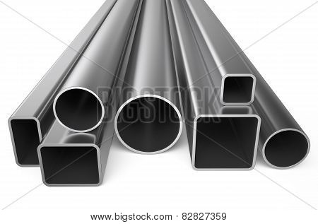 Rolled Metal, Assortment Of Square Pipes