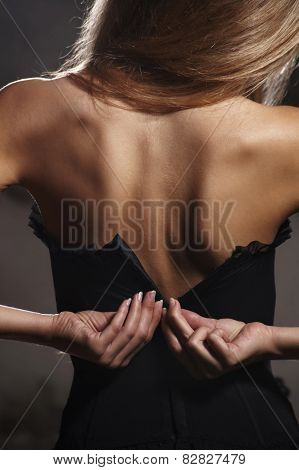 woman in corset