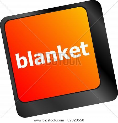 Blanket Button On Computer Pc Keyboard Key