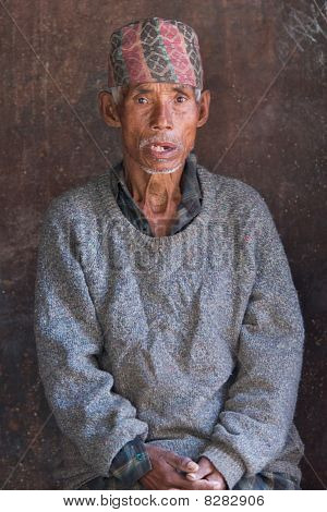 Nepalese Old Peasant