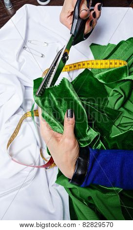 Fashion Designer Fabric Cuts