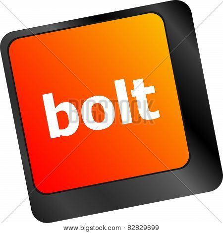 Bolt Word On Keyboard Key, Notebook Computer Button