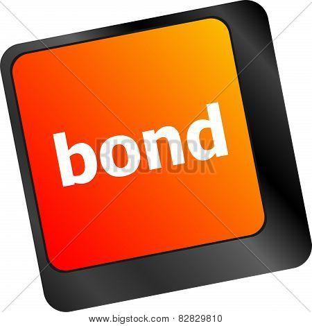 Bond Button On Computer Pc Keyboard Key