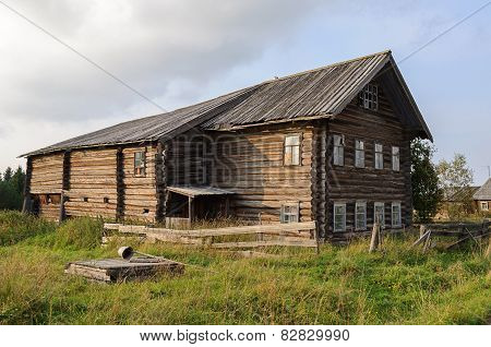 Old Large Wooden House In North Russia